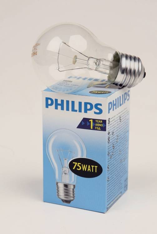 PHILIPS A55 75W E27 CL 354594