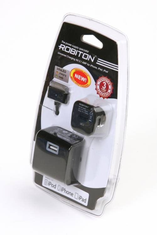 ROBITON App03 Universal Charging Kit 2.1A iPhone/iPad BL1