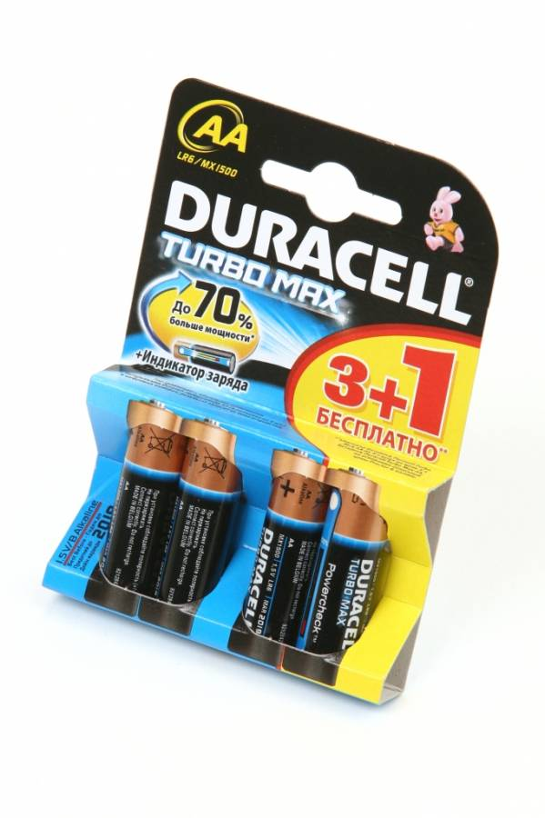 DURACELL TURBO MAX LR6 3+1шт BL4