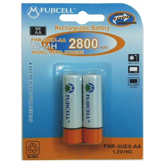 FUJICELL NiMH Rechargeable AA 2800mAh BL2 FHR-3UEX-AA