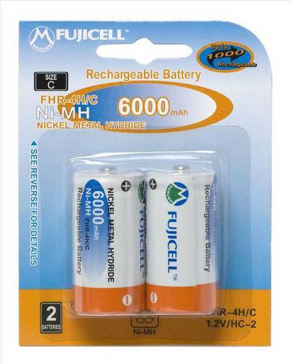FUJICELL NiMH Rechargeable C 6000mAh BL2 FHR-4H/C - FUJICELL NiMH Rechargeable C 6000mAh BL2 FHR-4H/C